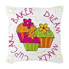 cupcakedreambaker Woven Throw Pillow