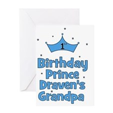 birthdayprince_1st_DRAVENsGRANDPA Greeting Card