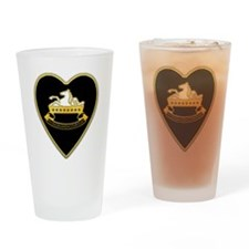 8th-Cavalry-Heart-neckless Drinking Glass