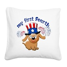 firsst-fourth Square Canvas Pillow