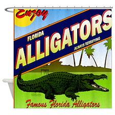 FLORIDA ALLIGATORS_STADIUM_BLANKET Shower Curtain