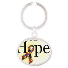 hope-granddaughter Oval Keychain
