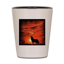 Coyote Howling Shot Glass