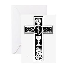Totenkreuz Greeting Card