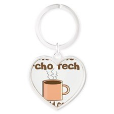 Instant Echo Tech coffee Heart Keychain