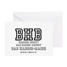 AIRPORT CODES - BHB - BAR HARBOR, MA Greeting Card
