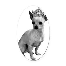 ChihauhauCrown Oval Car Magnet