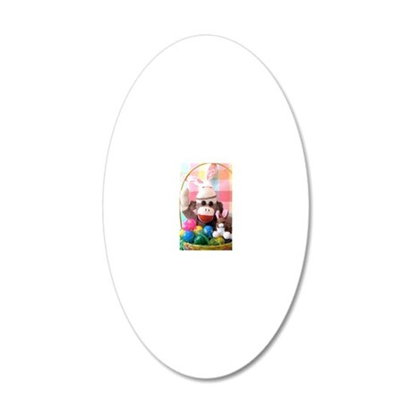 Easter Basket 20x12 Oval Wall Decal