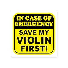 Save My Violin Rectangle Sticker