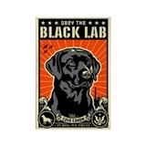 Obey the Black LAB! 07 Propaganda Magnet
