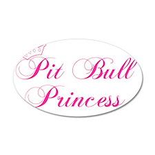 Pit Bull Princess Wall Decal