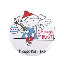 """Chicago Kid In Exile (girl) 3.5"""" Button"""