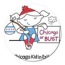 Chicago Kid In Exile (girl) Round Car Magnet