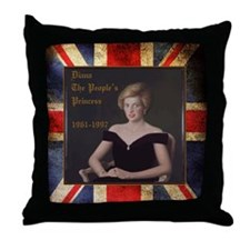 Diana_the_peoples_Princess_52x62 Throw Pillow