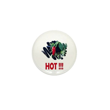 Red HOT Pepper Mini Button (10 pack)