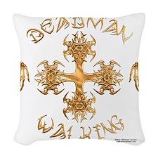 Deadman Walking Cross Woven Throw Pillow