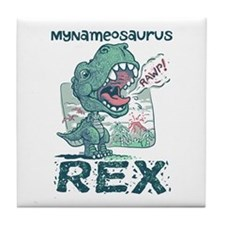 Personalize This T-Rex Tile Coaster