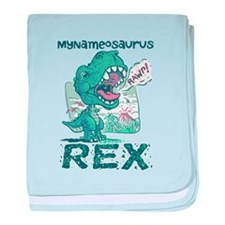 Personalize This T-Rex baby blanket