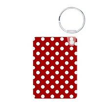 red-polkadot-3g-hard Aluminum Photo Keychain
