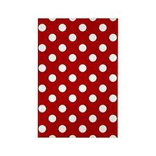 red-polkadot-3g-hard Rectangle Magnet