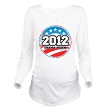 Obama-2012-Circle-2 Long Sleeve Maternity T-Shirt