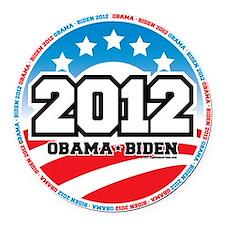 Obama-2012-Circle-2 Round Car Magnet