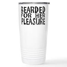 bearded Ceramic Travel Mug