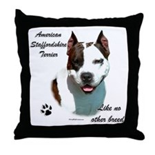Am Staff Breed Throw Pillow