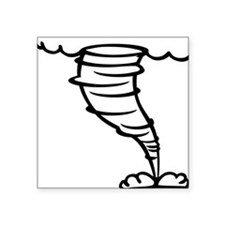 "tornado Square Sticker 3"" x 3"""