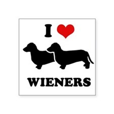 I love my wieners Rectangle Sticker