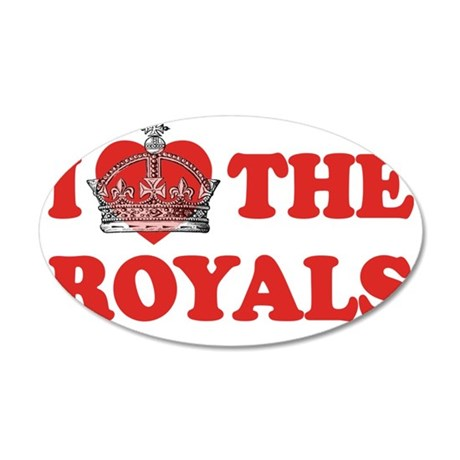 I Heart the Royals 2 35x21 Oval Wall Decal