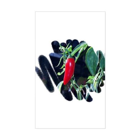 Red Pepper Rectangle Sticker