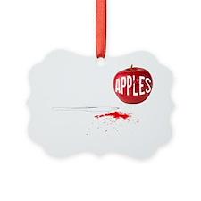 Apples Blk Picture Ornament