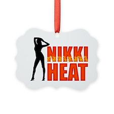 Nikki Heat Hat Picture Ornament