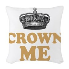 Crown Me 2 Woven Throw Pillow