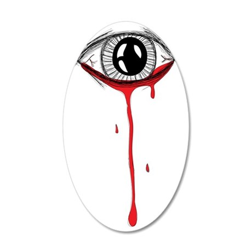 bleeding eye 35x21 Oval Wall Decal