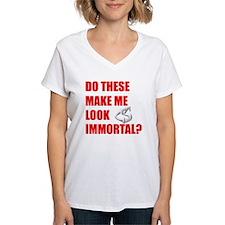 Fangs Blk Women's V-Neck T-Shirt