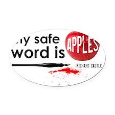 Apples Hat Oval Car Magnet
