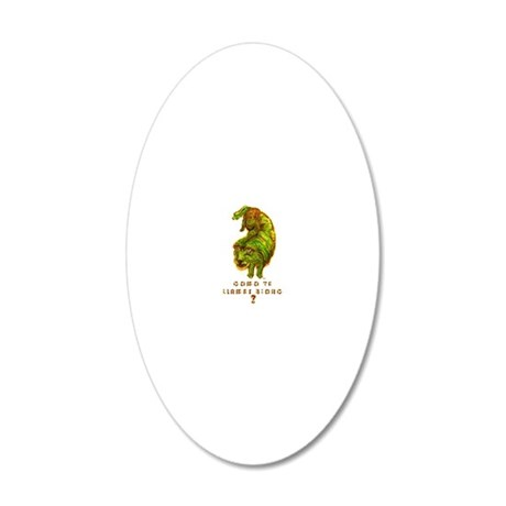 chienjaunetshirtfoncetext230 20x12 Oval Wall Decal