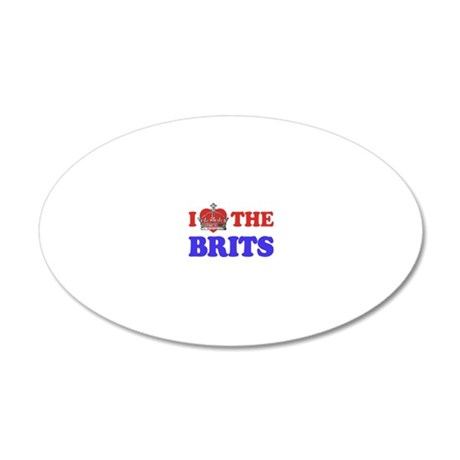 I Heart the Brits 2 20x12 Oval Wall Decal