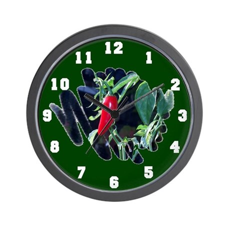 Red Hot Pepper Wall Clock