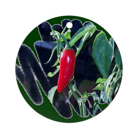Red Hot Pepper Ornament (Round)