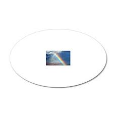 Jeremiah 29-11 Rainbow 20x12 Oval Wall Decal