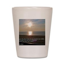 Jeremiah 29-11 Sunrise Shot Glass