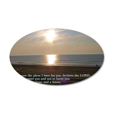 Jeremiah 29-11 Sunrise 35x21 Oval Wall Decal