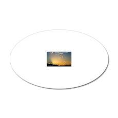 John 14-27  Sunrise 20x12 Oval Wall Decal