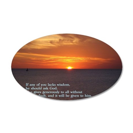 James 1-5  Sunset 35x21 Oval Wall Decal