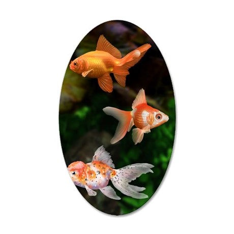Goldfish 35x21 Oval Wall Decal