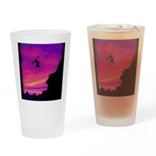 Stunt Skier Drinking Glass