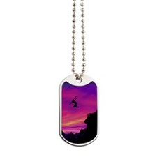 Stunt Skier Dog Tags